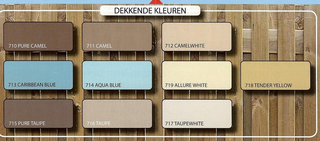 Hermadix Houtdecor Kleuren.Hermadix Tuindecoratiebeits 3 Blikken Diverse Kleuren In Doos